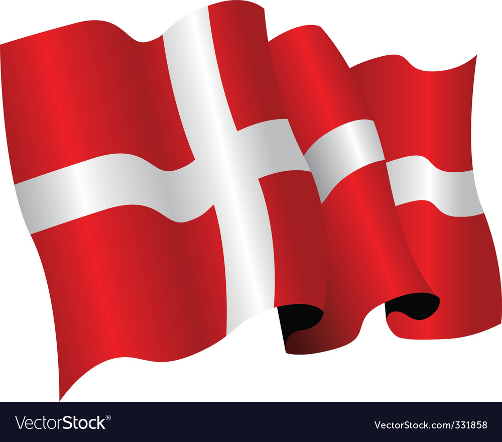 Denmark flag vector | Price: 1 Credit (USD $1)
