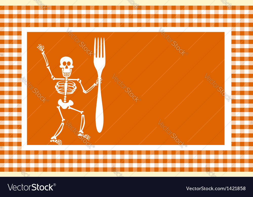 Halloween skeleton background vector | Price: 1 Credit (USD $1)
