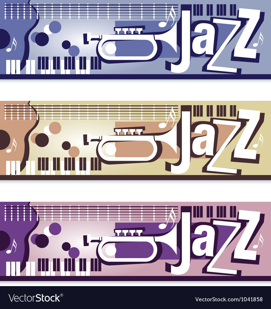 Jazz banners vector | Price: 1 Credit (USD $1)