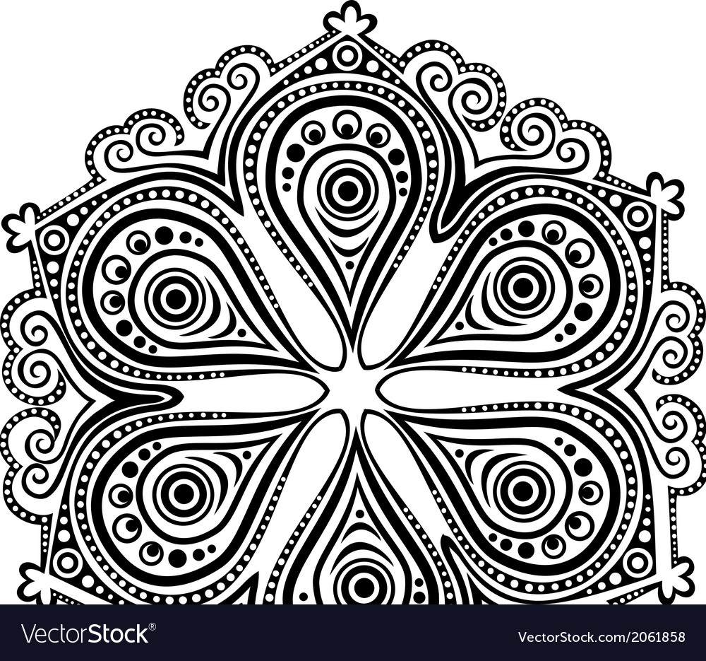 Ornamental round lace pattern circle background vector   Price: 1 Credit (USD $1)