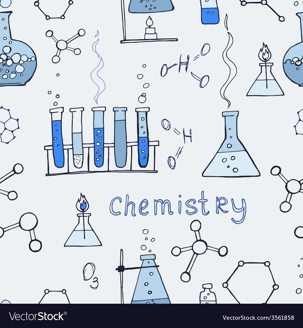 Seamless science background vector | Price: 1 Credit (USD $1)
