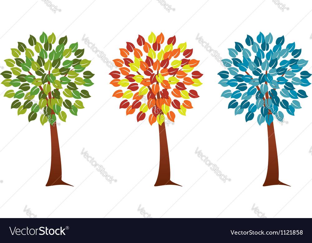 Seasonal trees vector | Price: 1 Credit (USD $1)