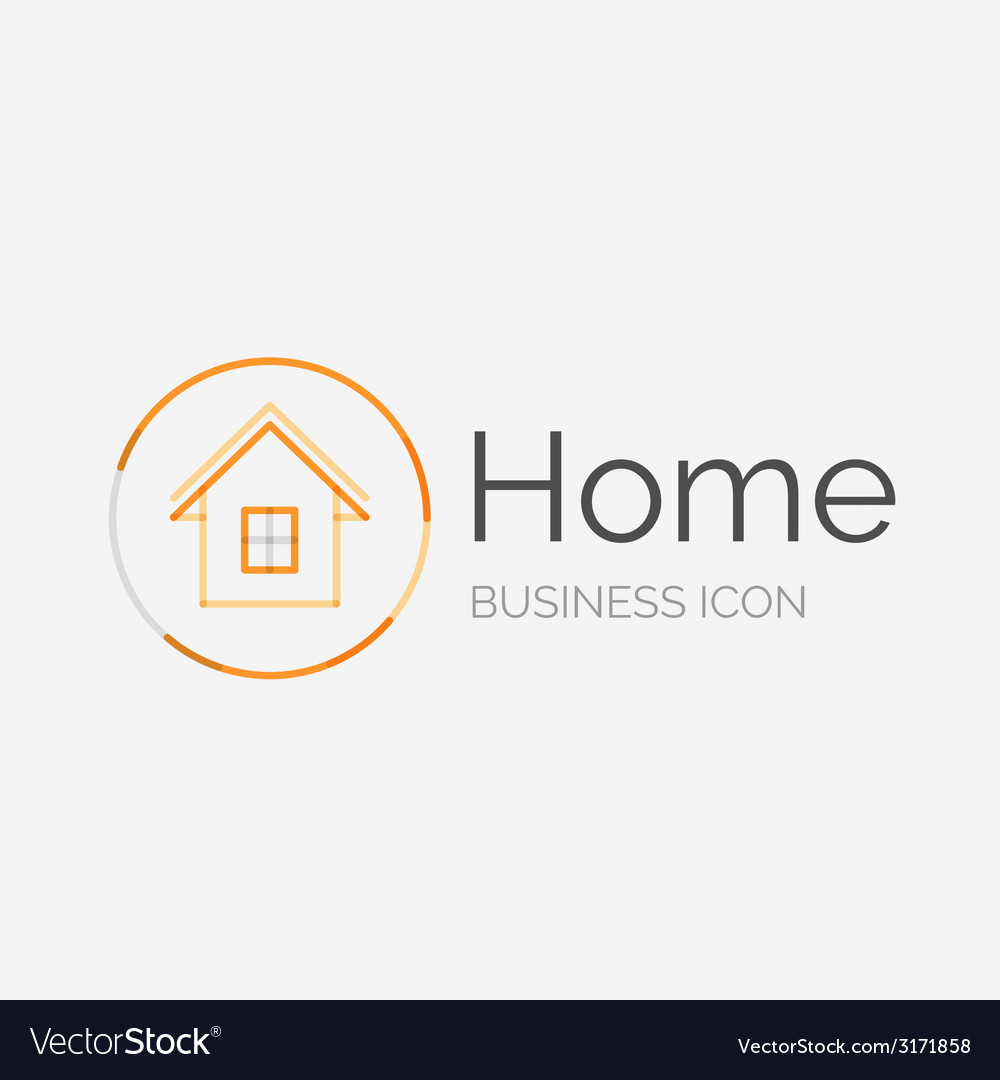 Thin line neat design logo home idea vector | Price: 1 Credit (USD $1)