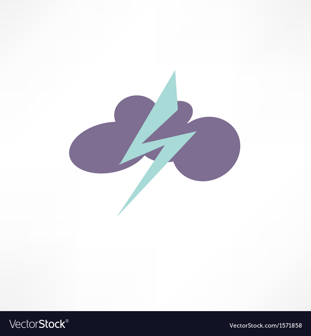 Thunderstorm icon vector | Price: 1 Credit (USD $1)