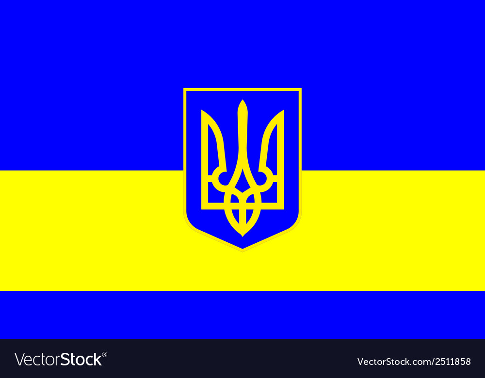 Ukrainian flag vector | Price: 1 Credit (USD $1)
