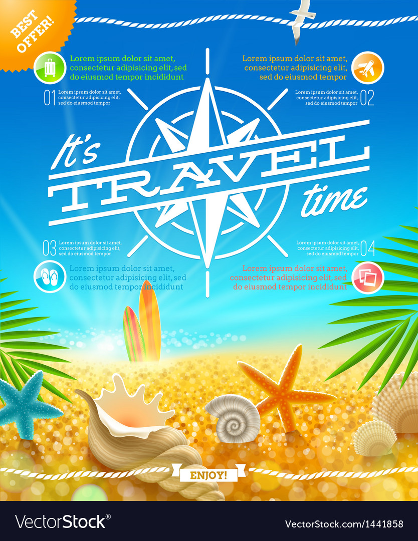 Vacation travel and summer holidays design vector | Price: 3 Credit (USD $3)