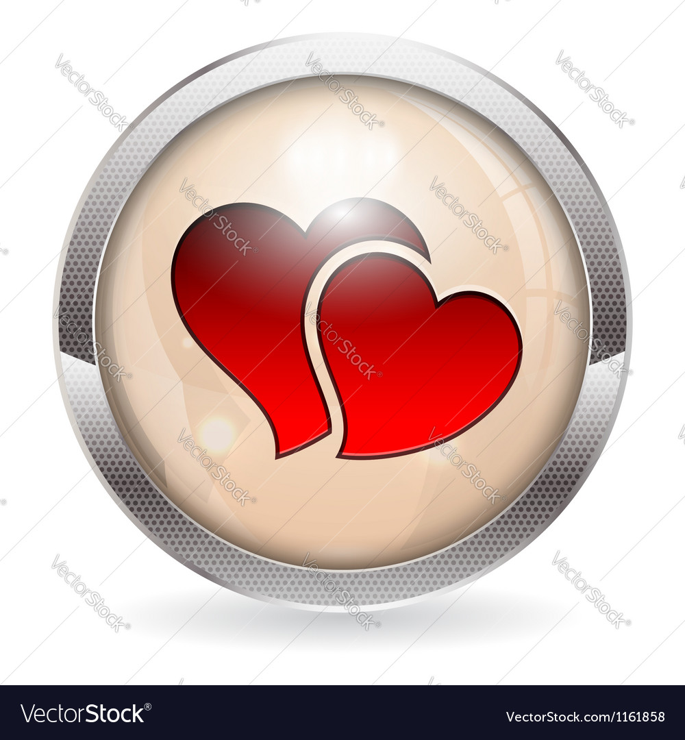 Valentine button vector | Price: 1 Credit (USD $1)