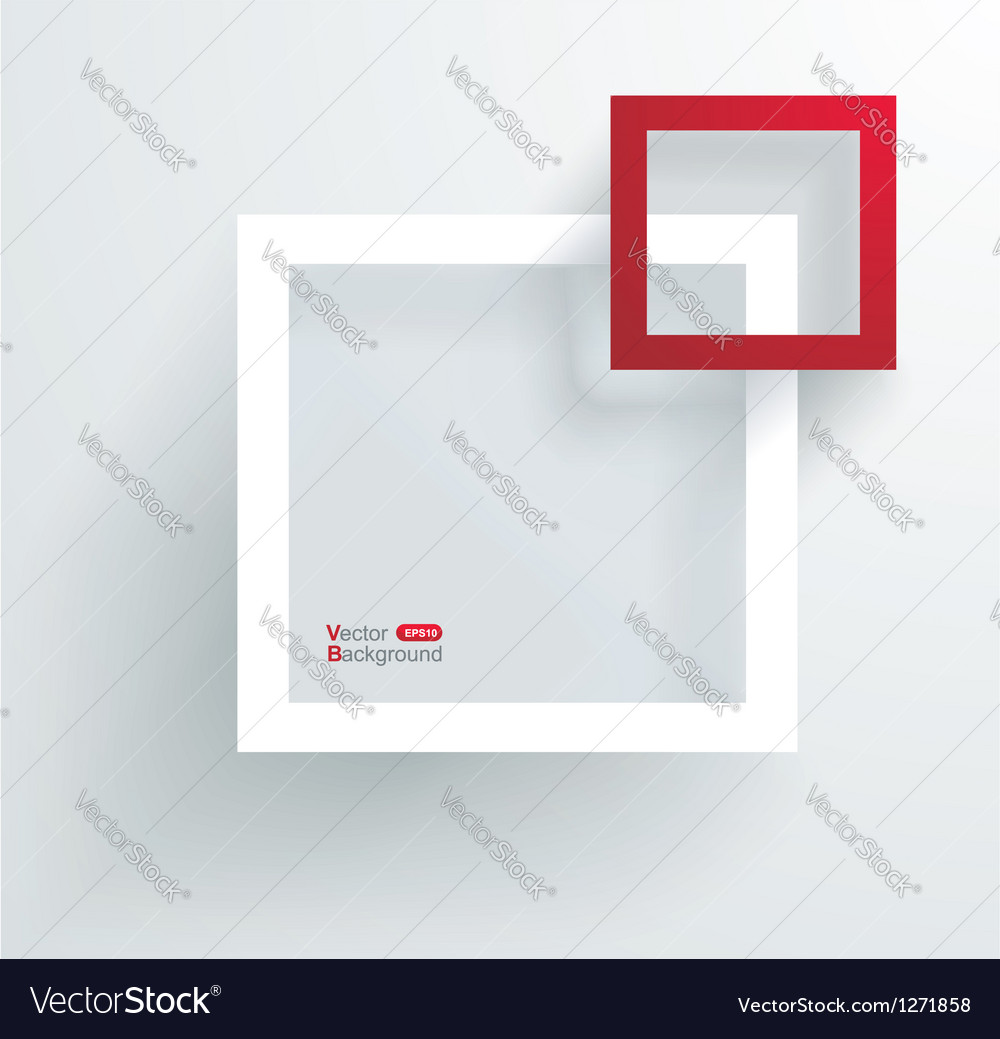 White and red frames on the wall vector | Price: 1 Credit (USD $1)