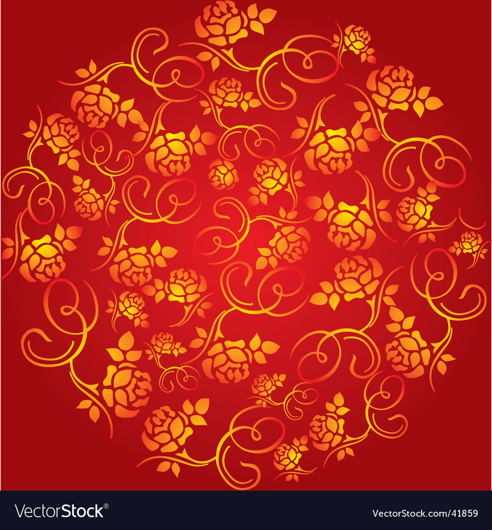 China flower pattern vector | Price: 1 Credit (USD $1)