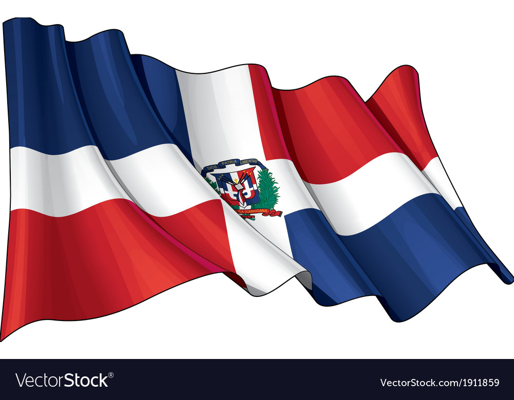 Dominican republic flag grunge vector | Price: 1 Credit (USD $1)