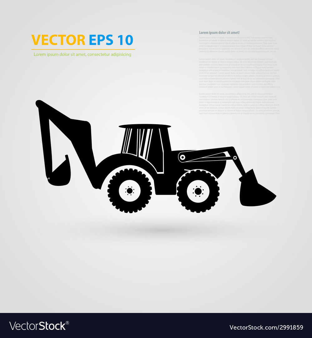 Isolated tractor icons silhouettes vector   Price: 1 Credit (USD $1)