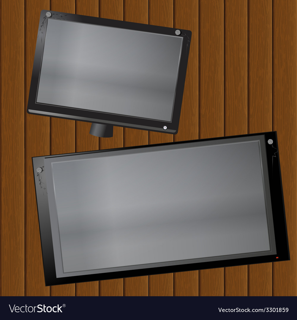 Picture frame on the boards vector | Price: 1 Credit (USD $1)