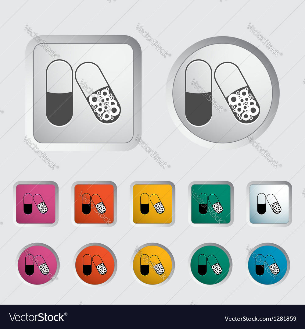 Pills icon vector | Price: 1 Credit (USD $1)