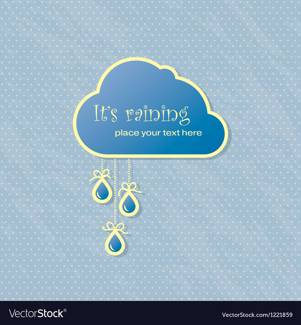 Raining card vector | Price: 1 Credit (USD $1)