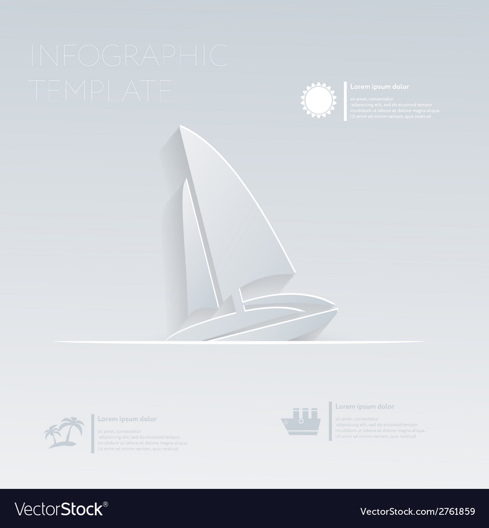 Sailing boat theme holidays template infographic vector | Price: 1 Credit (USD $1)