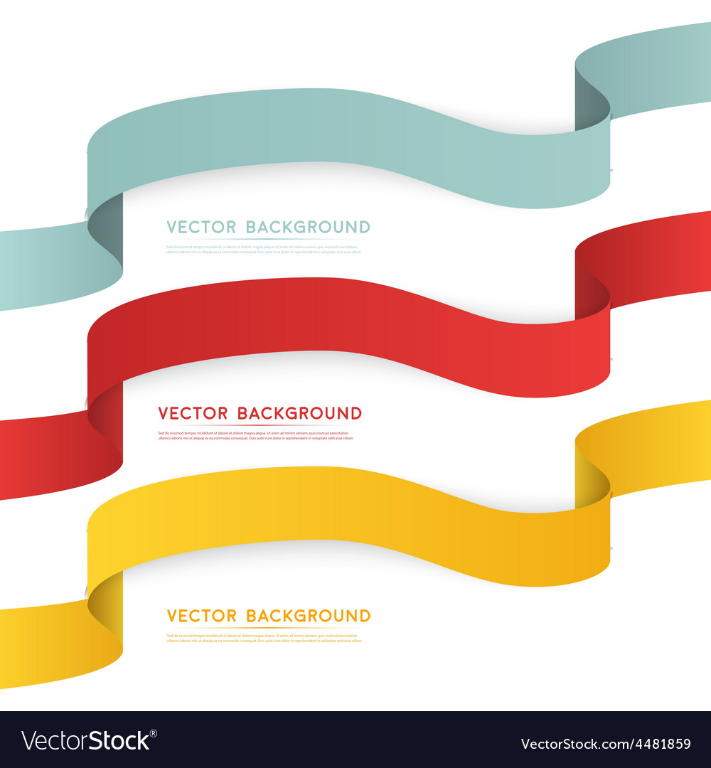 Set of color ribbons isolated on white vector | Price: 1 Credit (USD $1)