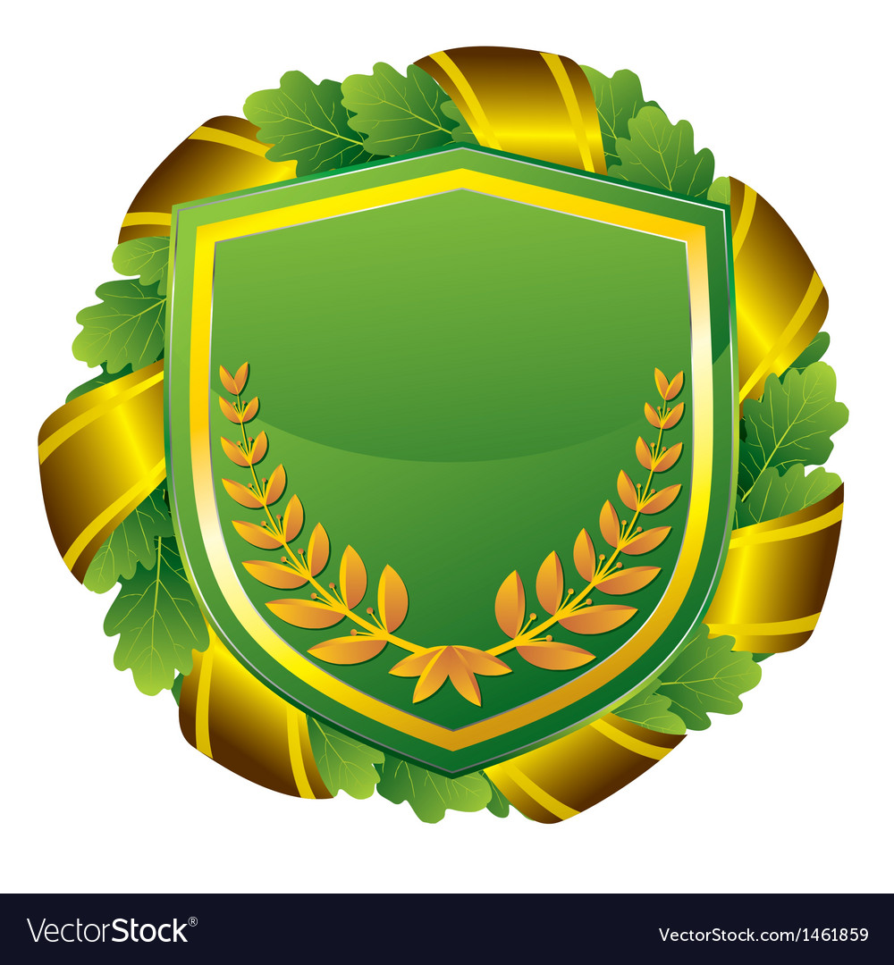 Shield green vector | Price: 1 Credit (USD $1)