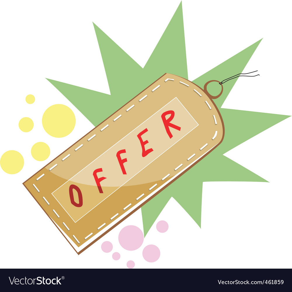 Shopping offer vector | Price: 1 Credit (USD $1)
