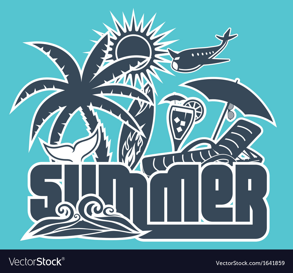 Summer holiday poster vector   Price: 1 Credit (USD $1)