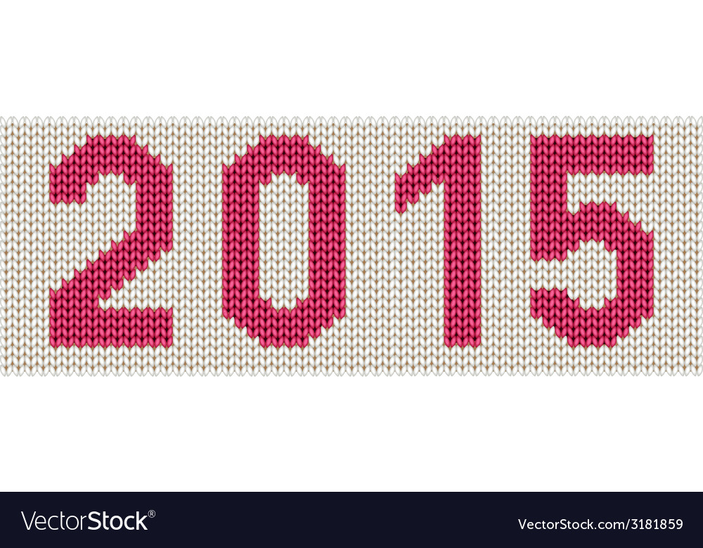 Woven 2015 number vector