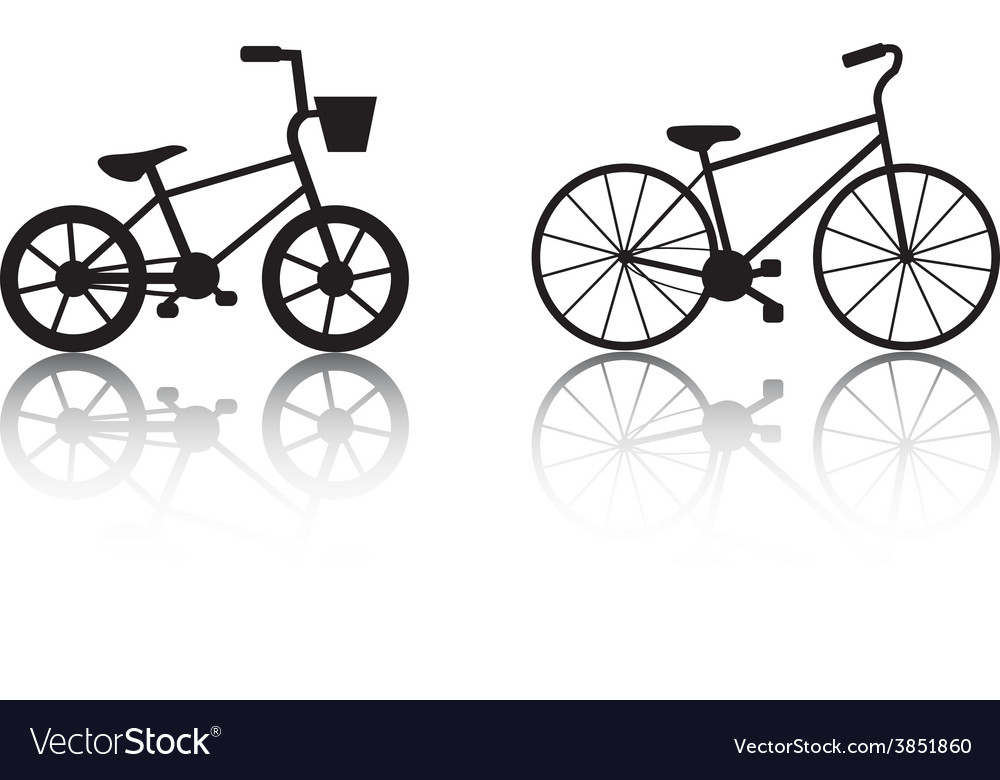 Bicycles silhouettes set vector | Price: 1 Credit (USD $1)