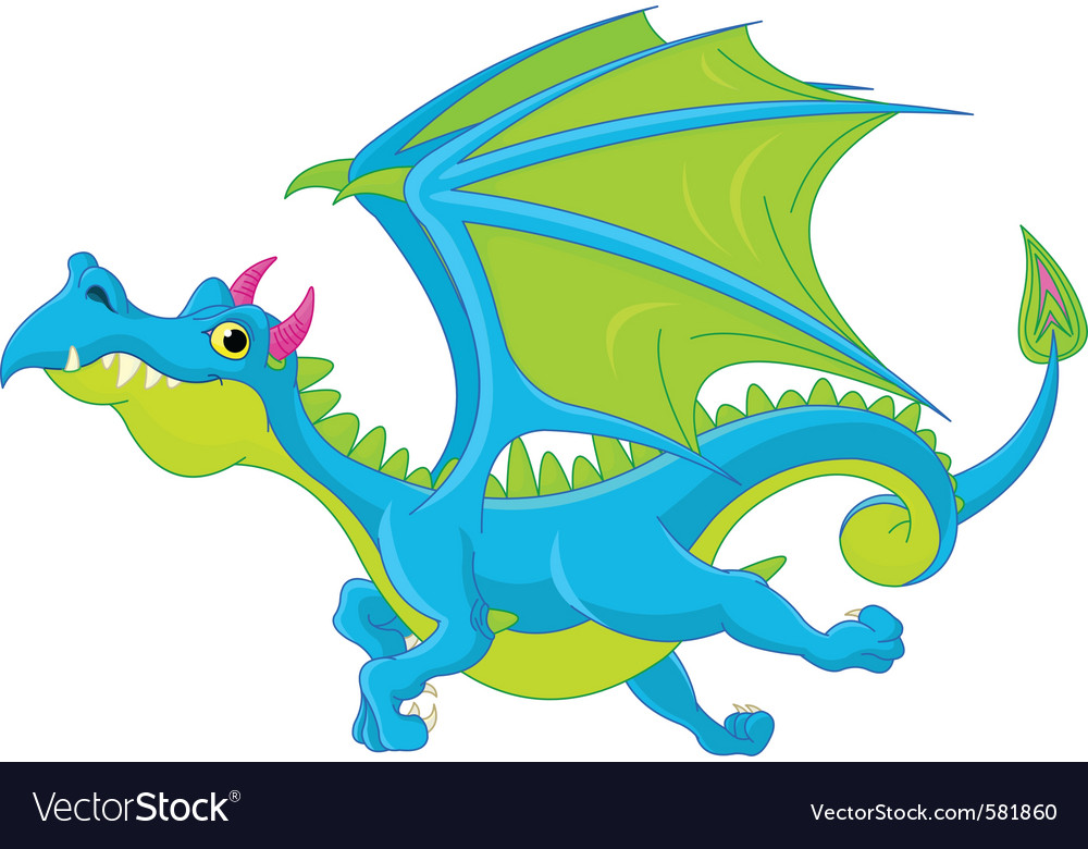 Cartoon dragon vector | Price: 1 Credit (USD $1)