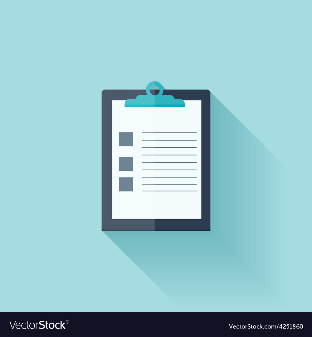 Flat medical report vector | Price: 1 Credit (USD $1)