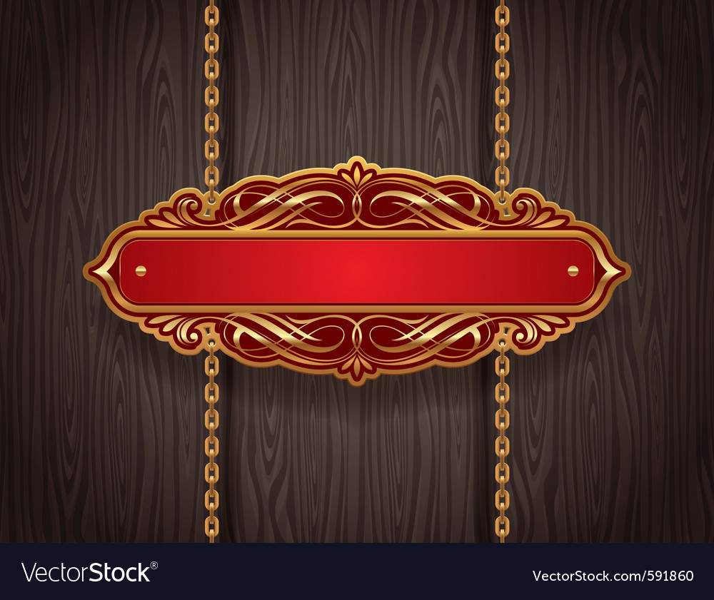 Golden vintage signboard vector | Price: 3 Credit (USD $3)