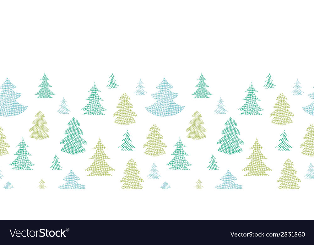 Green blue christmas trees silhouettes textile vector | Price: 1 Credit (USD $1)