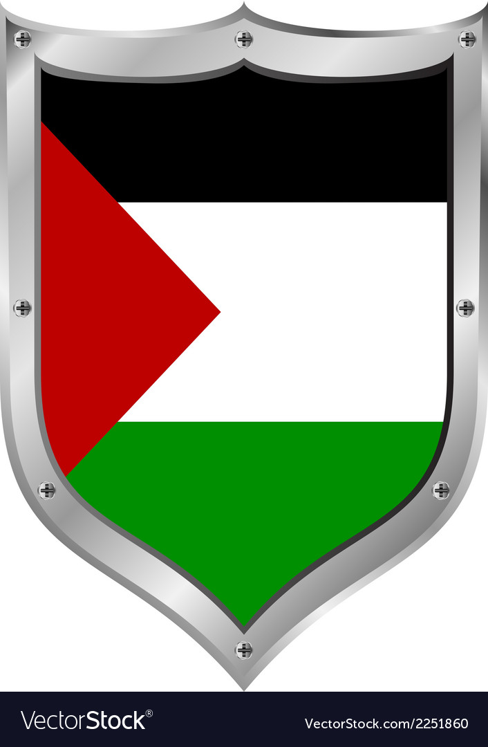 Palestine flag button vector | Price: 1 Credit (USD $1)