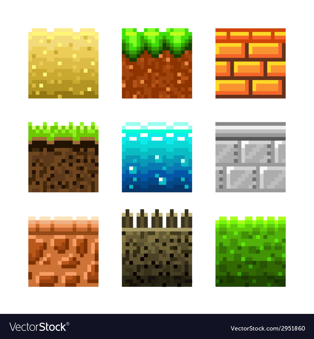 Pixels textures for games vector | Price: 3 Credit (USD $3)