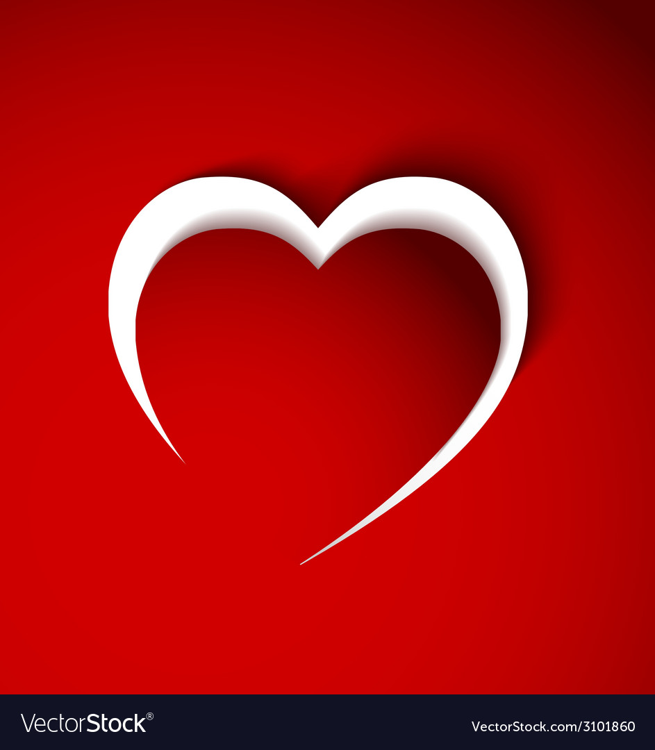 Red heart made from paper vector | Price: 1 Credit (USD $1)