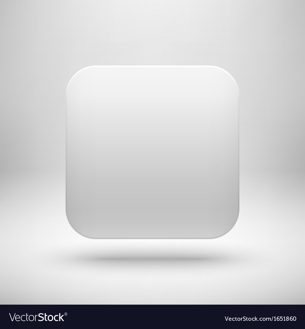 Technology white blank app icon template vector | Price: 1 Credit (USD $1)