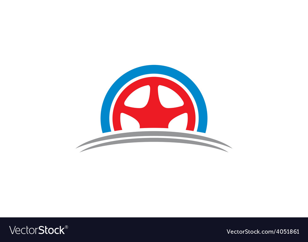 Car tyre automotive logo vector | Price: 1 Credit (USD $1)