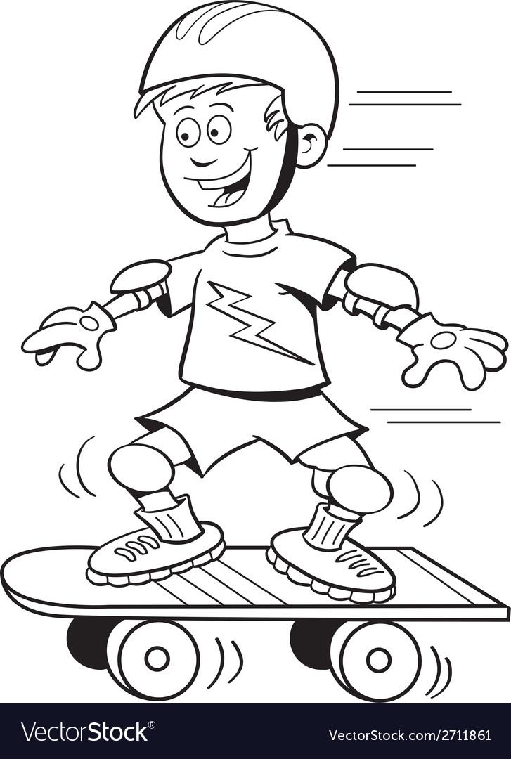 Cartoon skateboard boy vector | Price: 1 Credit (USD $1)
