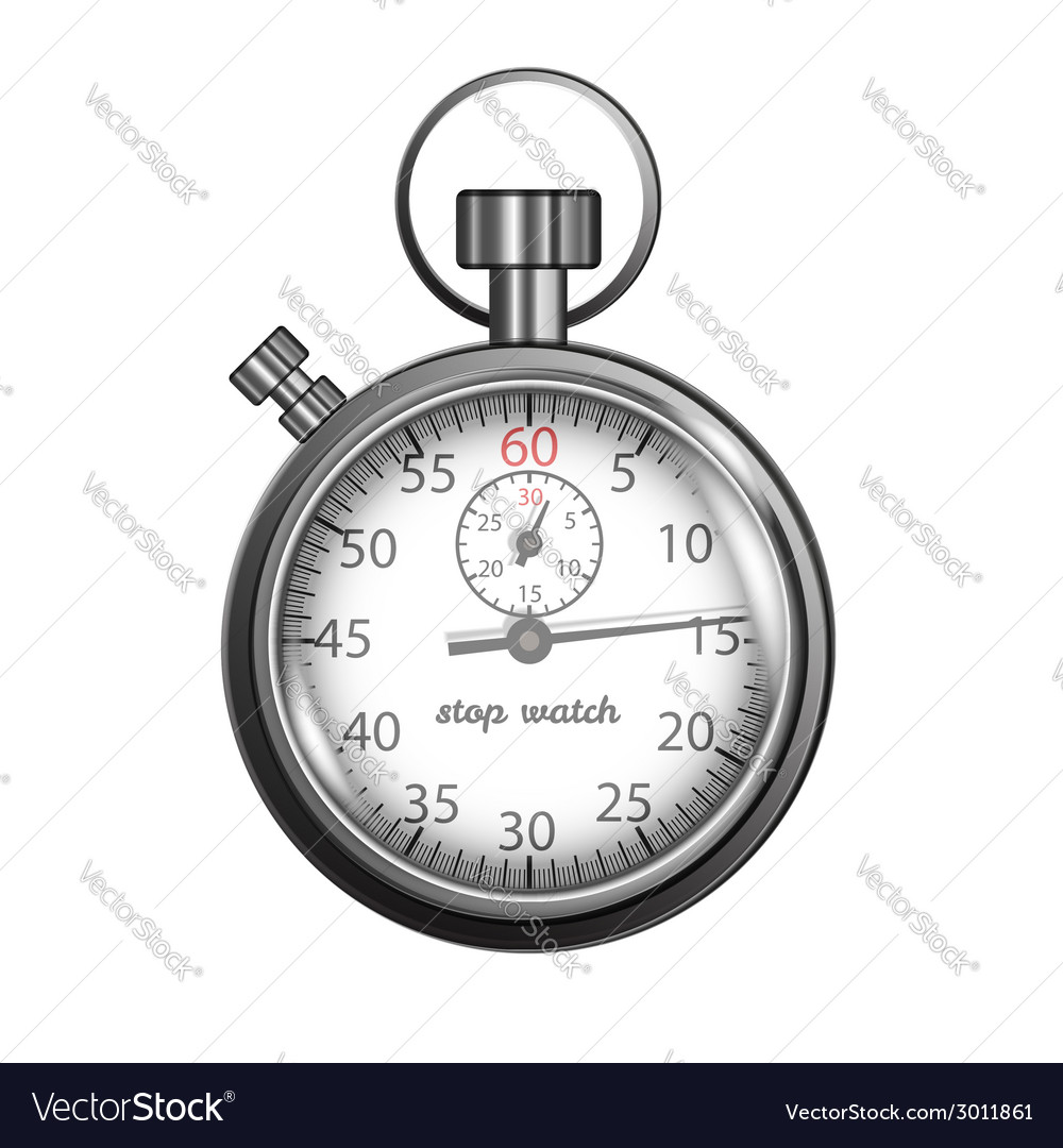 Classic stopwatch vector | Price: 1 Credit (USD $1)