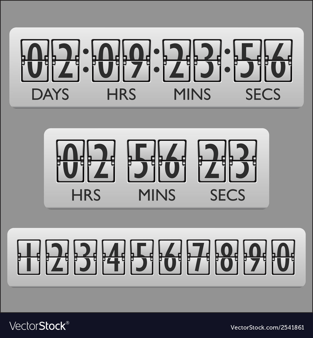 Countdown clock timer vector | Price: 1 Credit (USD $1)