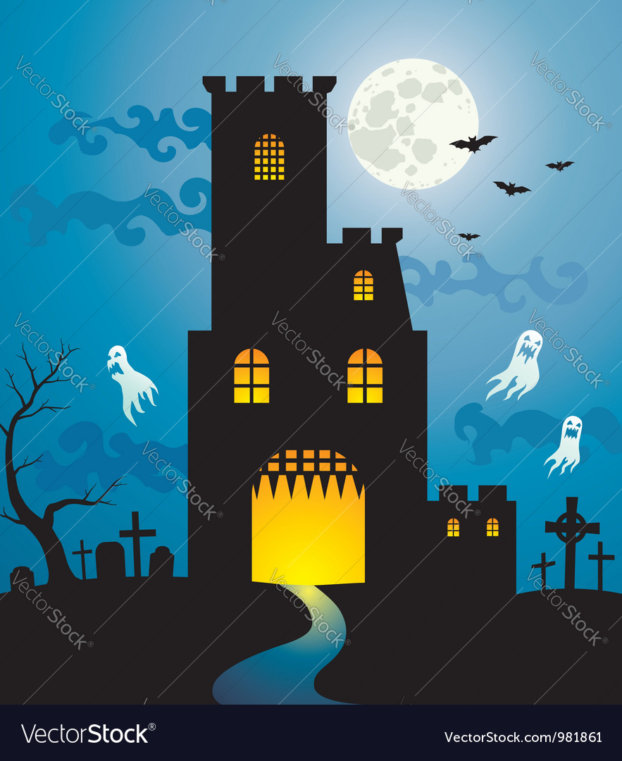 Halloween house new vector | Price: 1 Credit (USD $1)