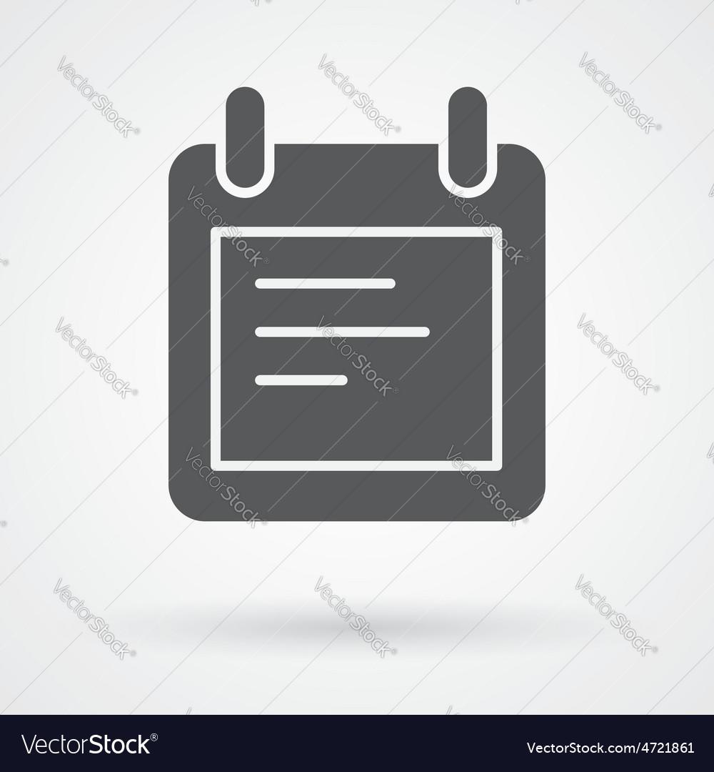 Notes icon vector   Price: 1 Credit (USD $1)