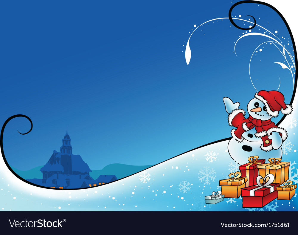 Snowman as santa claus vector | Price: 1 Credit (USD $1)