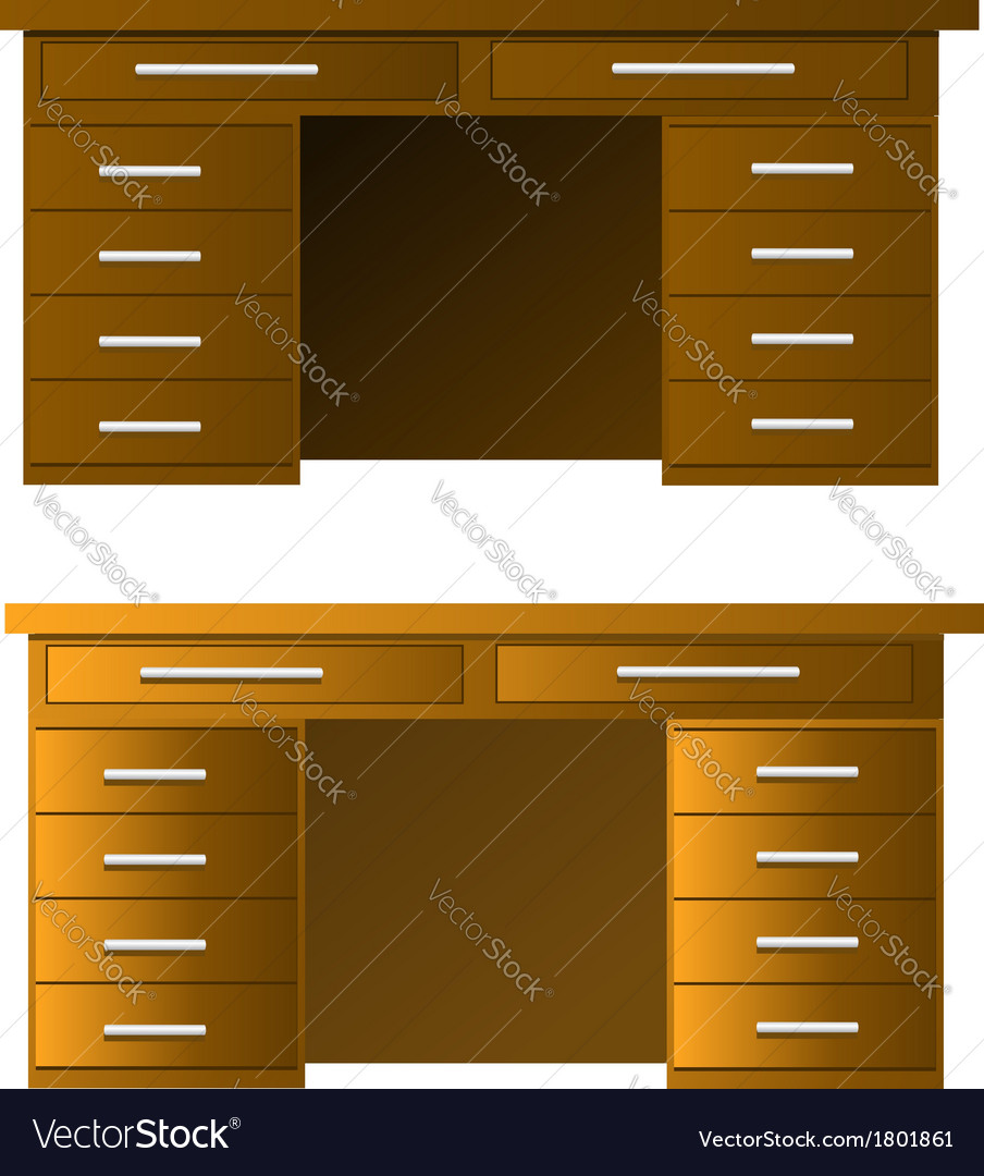 Table in some color variation vector | Price: 1 Credit (USD $1)