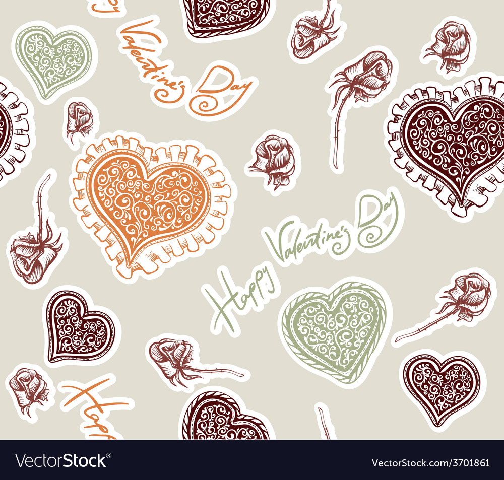 Valentines day pattern vector   Price: 1 Credit (USD $1)