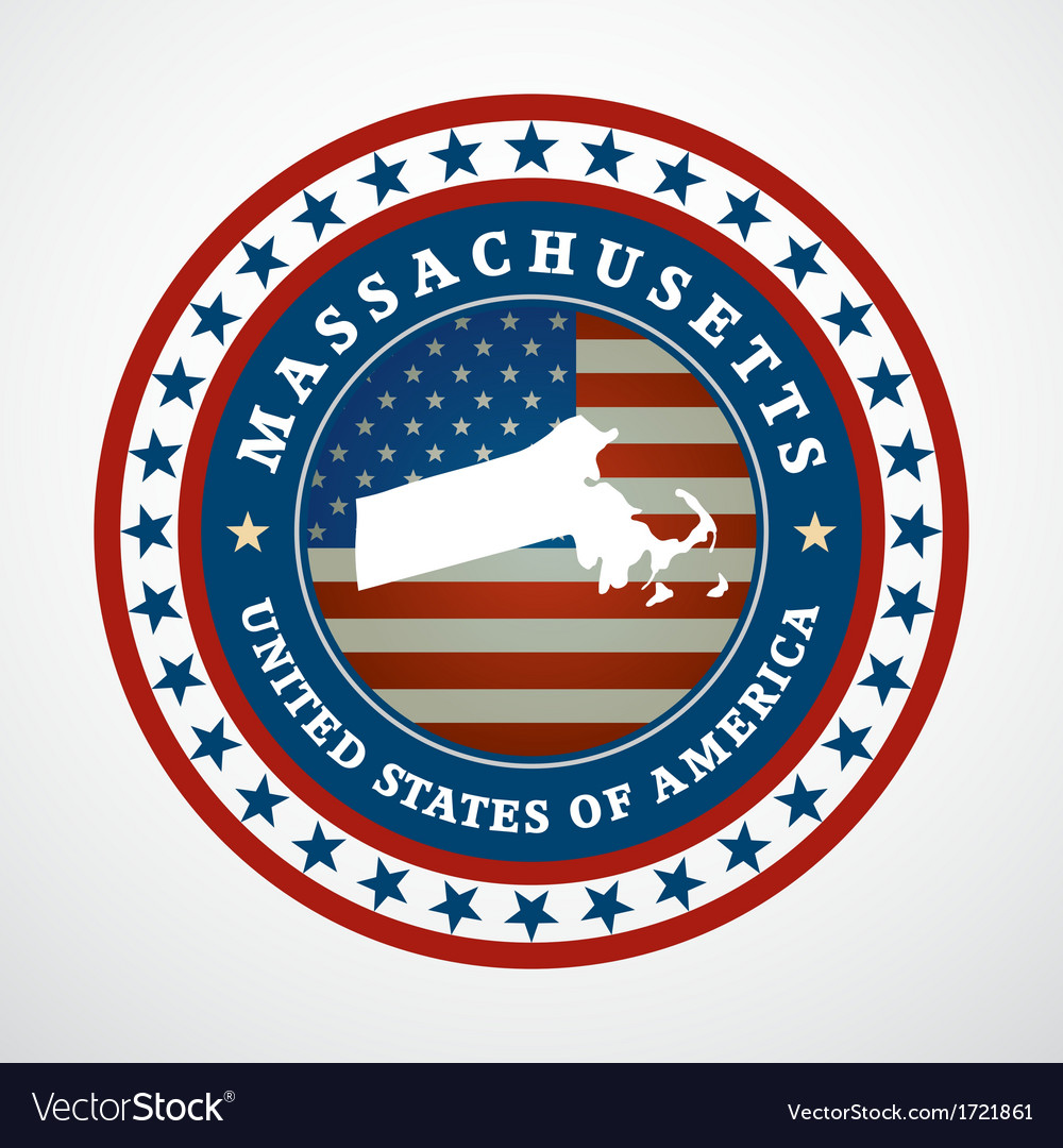 Vintage label massachusetts vector | Price: 1 Credit (USD $1)