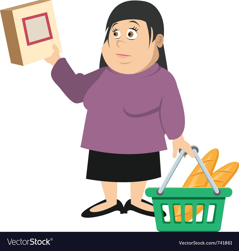 Woman shopping vector   Price: 3 Credit (USD $3)
