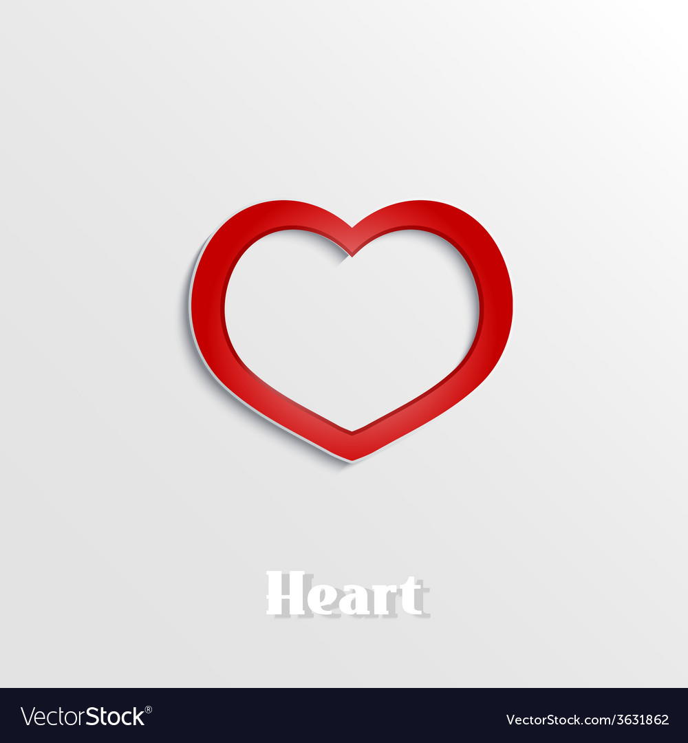 Abstract heart 3d paper icon vector | Price: 1 Credit (USD $1)