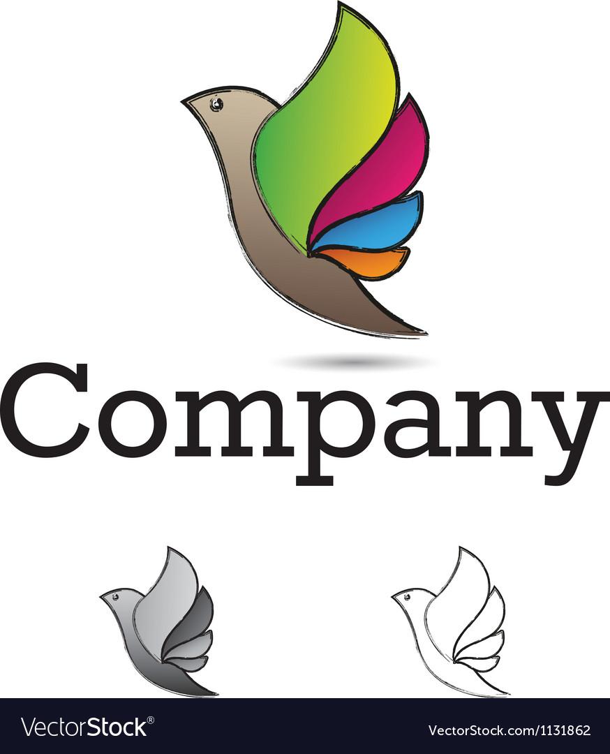 Bird design element vector | Price: 1 Credit (USD $1)