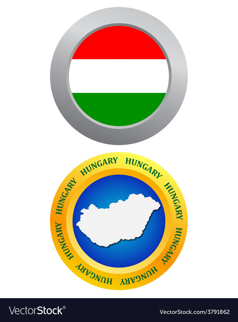 Button as a symbol hungary vector | Price: 1 Credit (USD $1)