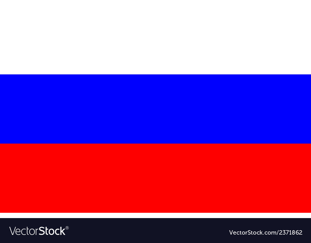 Flag of russia vector | Price: 1 Credit (USD $1)