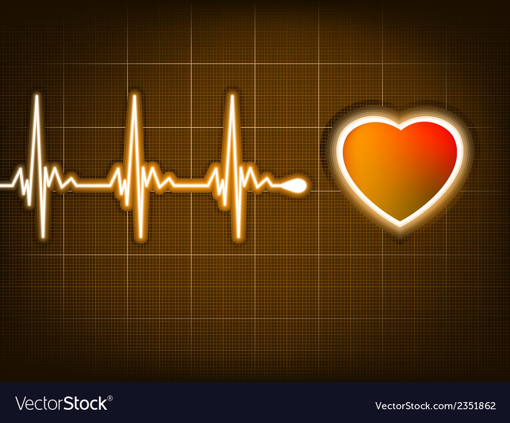 Graph from a heart beat and a heart eps 8 vector | Price: 1 Credit (USD $1)