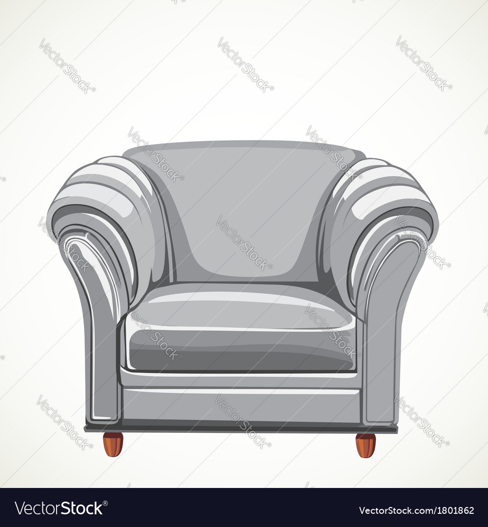 Isolated white armchair vector | Price: 1 Credit (USD $1)
